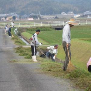 地域の一斉草刈り ・・・ 多面的機能支払制度
