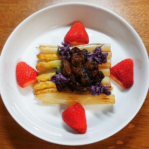 自炊飯 ホワイトアスパラガス料理