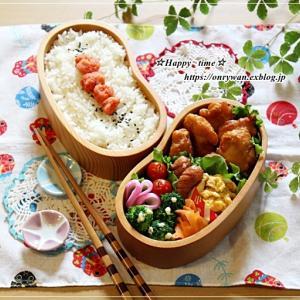 からあげ・明太子弁当と今週の作りおき♪
