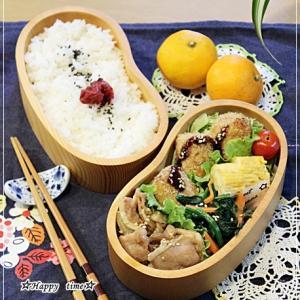 自家製コロッケ・生姜焼き弁当と味噌おでん♪