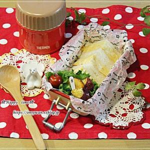 厚焼き玉子サンド・ビーフシチュー弁当とクリスマスツリー♪