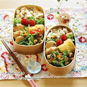 筍とわらびの炊き込みごはん弁当♪