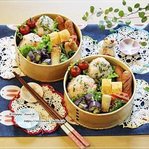 鮭とと大葉のおむすび弁当と作りおきと普通の紫陽花♪