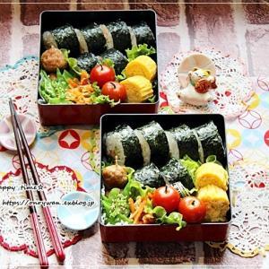 サラダ巻き寿司弁当と内緒の話中♪