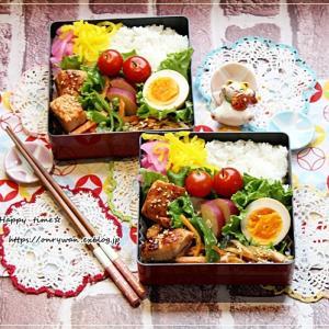 サーモンのムニエル弁当と朝パンはきゅうりトマトツナサンド♪