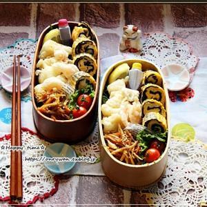 海鮮天ぷら弁当とリク15歳になりました♪