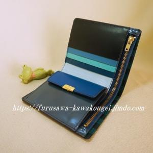 ◆財布4<ダークブルー*ユニーク>