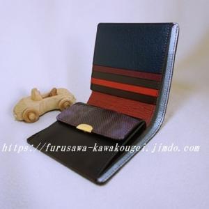 ◆財布:パッチワーク<チョコ*ユニーク>