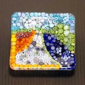ミルフィオリで作るお花畑の小皿