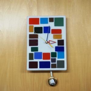 アンティーク調ガラス時計