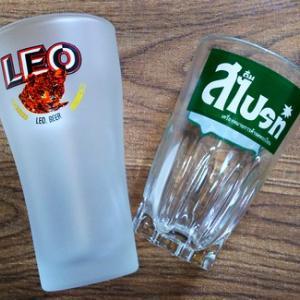 LEOとスプライト(タイ語)のグラス(バンコク旅行2018で買ったもの・14)
