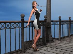 DAZの服 Arleya Dress for Genesis 2 Female(s)