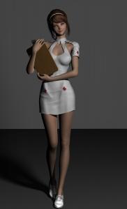 フィギアで病院ごっこのナース服とそのアイテム