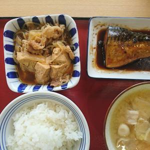本日の孤独のランチ、牛すき、煮さば、豚汁、めし(中)、やっぱり和食は最高だね!郡山桑野食堂行って来ました!