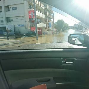 福島県郡山市 水害、いつもの通勤ルート下見して見ました。車内からの撮影です。被災者の方々へ心よりお見舞い申し上げます。