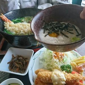 これは、まいう~!とろろ芋と海老フライ定食、相方はいつもの「いやさか天ぷらうどん」本日のランチ、矢吹町 いやさか食堂行って来ました!