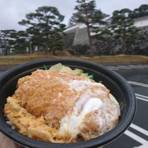 ほんまかいな!390円税込のかつ丼って、ウマイわけないやん、まあ試しに食べて見るか、あれあれ、ウマイやん!ロケ地、福島県二本松市霞ヶ城公園