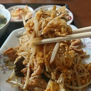 本日のランチ、豚肉ともやし炒め700円税込、玉子がしょっぱいもやしとからんでとてもマイウ~でした。中島村 清華(せいか)行って来ました!