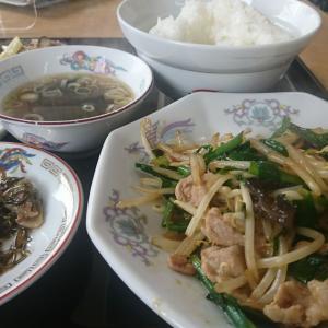 本日のBランチ、豚肉とニラ炒め 700円税込です。いただきまあ~す!うんま!!