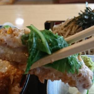 今日も元気だ、カツ丼がうまい!本日のランチ、カツ丼セット ざるそばがついて1200円税込ボリューム満点でしたよ。