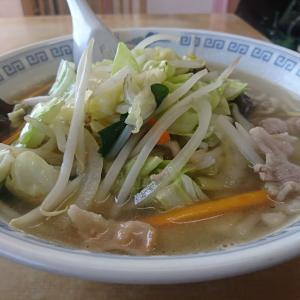 野菜てんこ盛りと豚肉のタンメン650円です。野菜のエキスが染み込んだスープがまたウマイ!本日のランチ、満足の一杯でした。