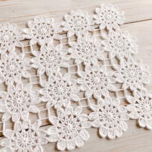 お花モチーフのレース編み完成です*