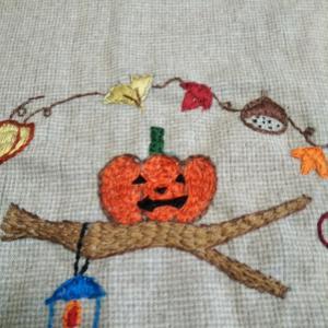 秋のししゅう*ハロウィン
