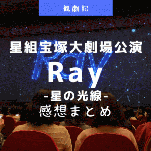 星組『Ray-星の光線-』感想や客席降りなどまとめ