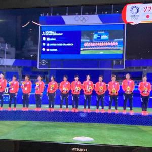 オリンピック、テレビで楽しんでます