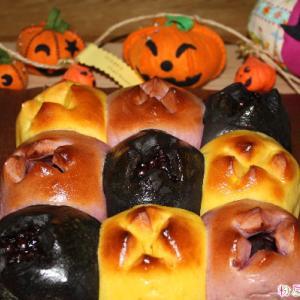 ハロウィンの食パンでちぎりパン♬ライ麦パン(^^)/