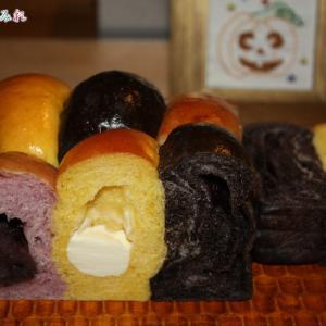 ハロウィンのちぎりパン(#^^#)