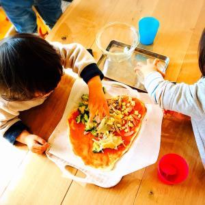 週末はお手軽簡単ピザ♡