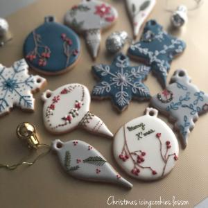 <今年もやります>クリスマスオーナメントアイシングクッキーレッスン(1)