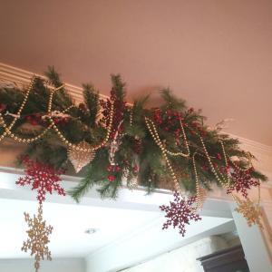 今年のテーマカラーでクリスマスの飾り付け♡