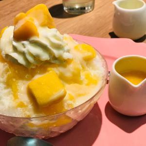 チーズクリームとマンゴーのかき氷