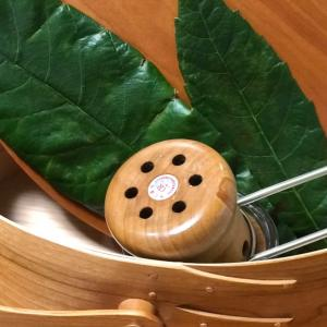 枇杷の葉で温灸してみました