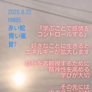 マヤ暦KIN85の今日は… 『学ぶことで感情をコントロールする』赤い蛇 青い嵐 音7