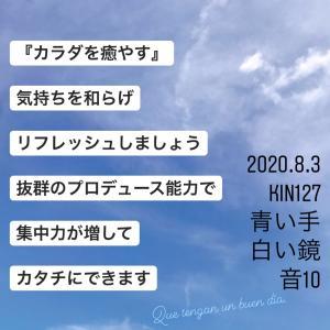 マヤ暦KIN127の今日は… 『カラダを癒す』青い手 白い鏡 音10