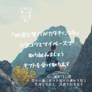 マヤ暦KIN223の今日は… 『地道な努力がカタチになる』青い夜  白い風  音2