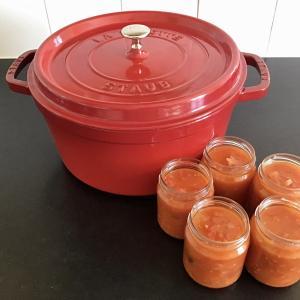 1年分の保存食、トマトソース作り開始〜☆