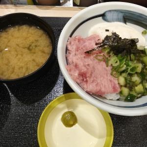 『松乃家』まぐろ三色丼が美味しい★