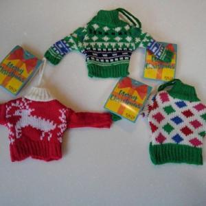 カルディのセーターと作った服
