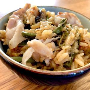 美味しく炊けたリベンジ山菜おこわ!