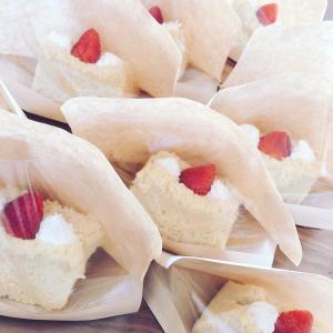 マイヤーレモンシフォンの苺サンド☆うさぎ柄シフォン☆豆腐味噌シフォン☆