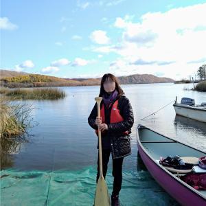 釧路のカヌー初体験の様子