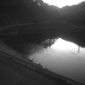 結氷が始まった加和志湖