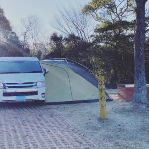 ハイエース車中泊 大池オートキャンプ場