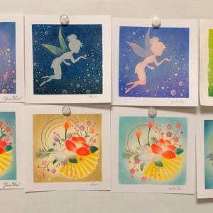 パステル和アート「願いを叶える魔法の妖精」と「迎春〜椿姫」