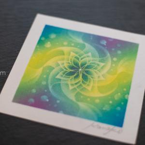 曼荼羅アートブラッシュアップ講座(ZOOM)〜光の表現〜開催します!