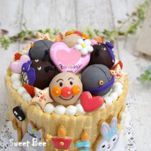 ケーキポップスのアンパンマンケーキ①♡